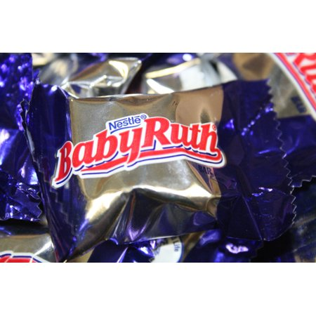 BAYSIDE CANDY Nestle Baby Ruth Milk Chocolate Fun Size Candy Bars,  1LB - Halloween Candy Baby