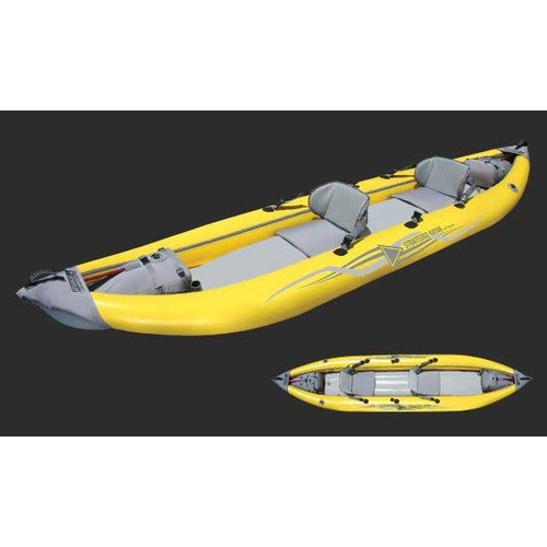 Advanced Elements Straitedge 2 Inflatable Kayak in Yellow and Gray