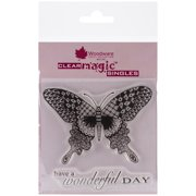 """Woodware Clear Stamps 3.5""""X3.5"""" Sheet-Zentangle Butterfly"""