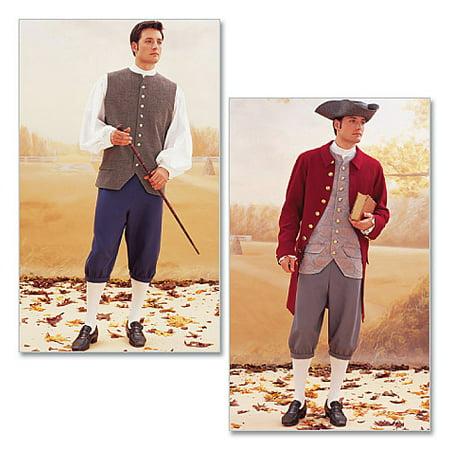 - McCall PatternHistorical Costume (Coat, Vest, Shirt, Pants and Hat)-32-34-36