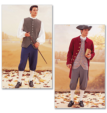 McCall PatternHistorical Costume (Coat, Vest, Shirt, Pants and Hat)-32-34-36