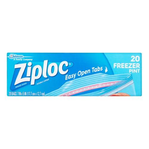 Ziploc Pinch & Seal Freezer Bags, Pint, 20 Ct