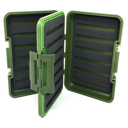 Waterproof Fly Box - Large 4-Sided - 524 Split Foam Fly Slots and Swing Leaf Insert