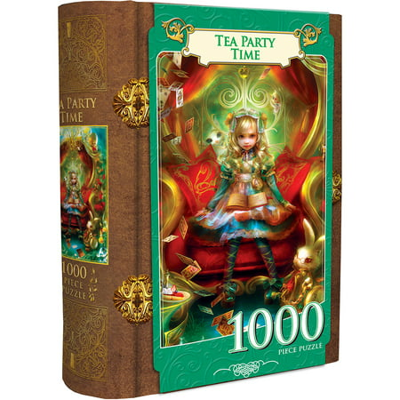 Book Box - Tea Party Time - Alice in Wonderland 1000 Piece Jigsaw Puzzle (Atlanta Braves Puzzle)