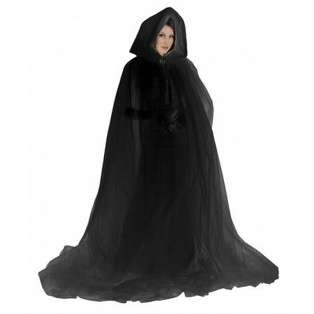 Ghost Cape Adult Costume Black
