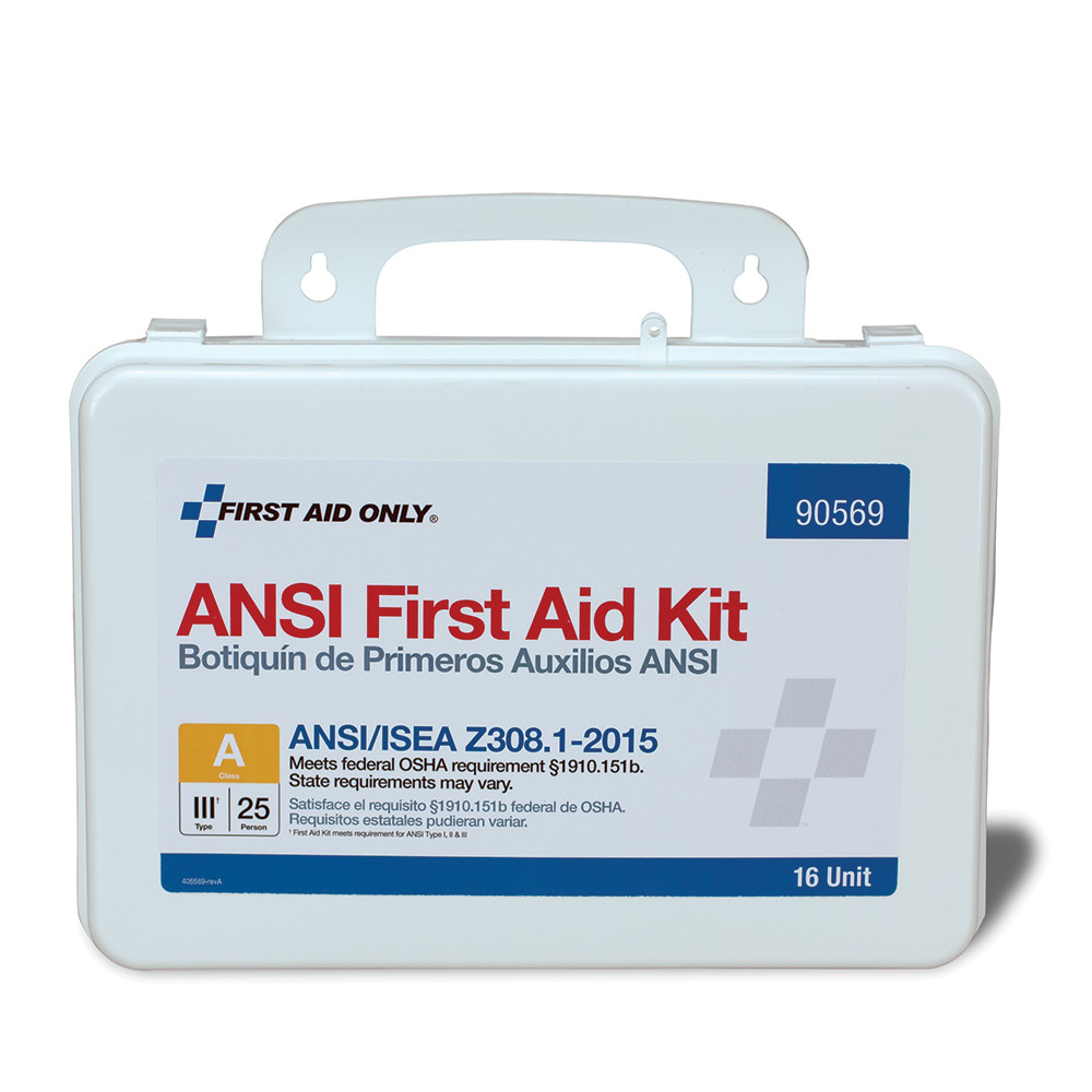 First Aid Only 25 Person ANSI A First Aid Kit, Plastic, 16 Unit