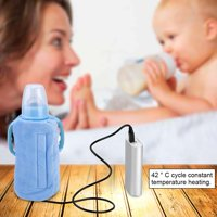 Fugacal Bottle Heated Cover,USB Portable Travel Mug Milk Warmer Heater Bottle Heater Feeding Bottle Infant Storage Bag , Milk Warmer