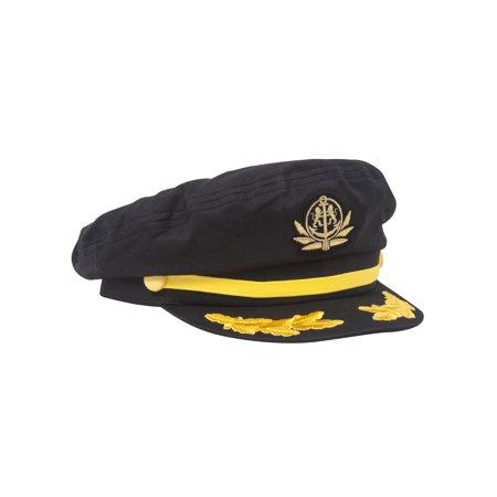 9634ba8fa Adjustable Captain Hat - Black