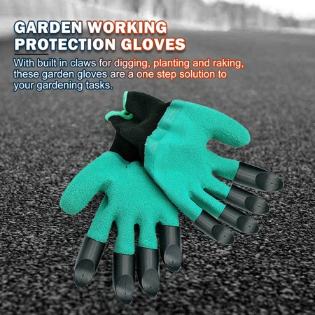 Gardening Gloves for Garden Digging Planting with 8 Claws Protection Gloves - image 5 of 11