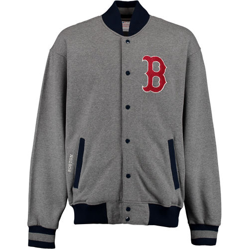 Men's G-III Sports by Carl Banks Heathered Gray Boston Red Sox Classic Fleece Jacket by