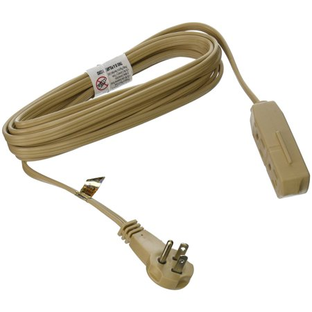 SlimLine 2255 Flat Plug Extension Cord, 3-Wire, 13-Foot, Beige ...