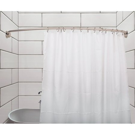 Utopia Alley Rustproof 72'' Adjustable Curved Fixed Shower Curtain Rod Brushed Nickel Shower Curtain Rod