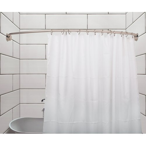 Utopia Alley Rustproof 72 Adjustable Curved Fixed Shower Curtain