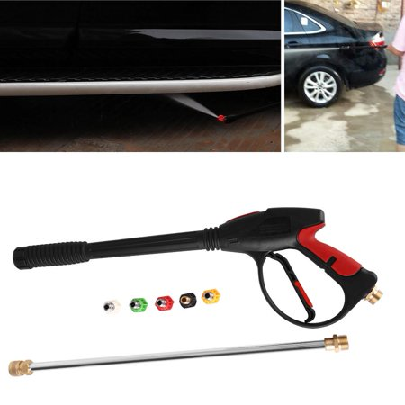 Walfront Car Washer Spray Gun High Pressure Washer Gun High Pressure Cleaner 1 2 Bsp Washer Spray Gun Dust Wash Tool With 5 Nozzles Max 4000 Psi