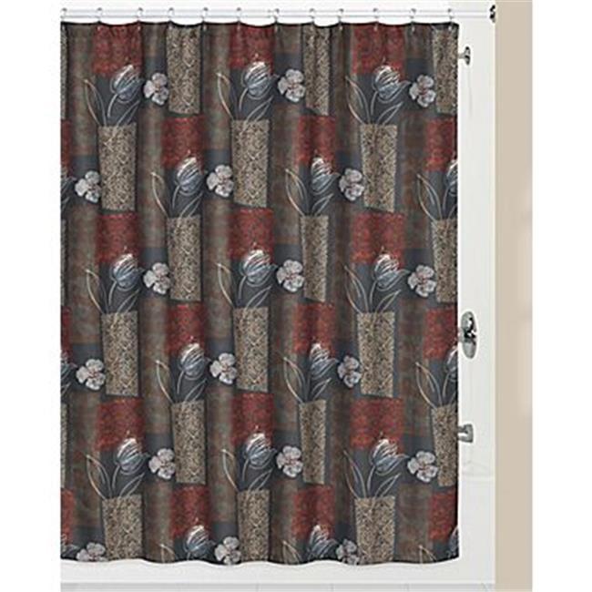 Creative Bath S1218MULT Borneo Polyester Shower Curtain
