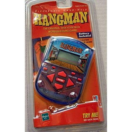 hangman electronic 1999 hand held game