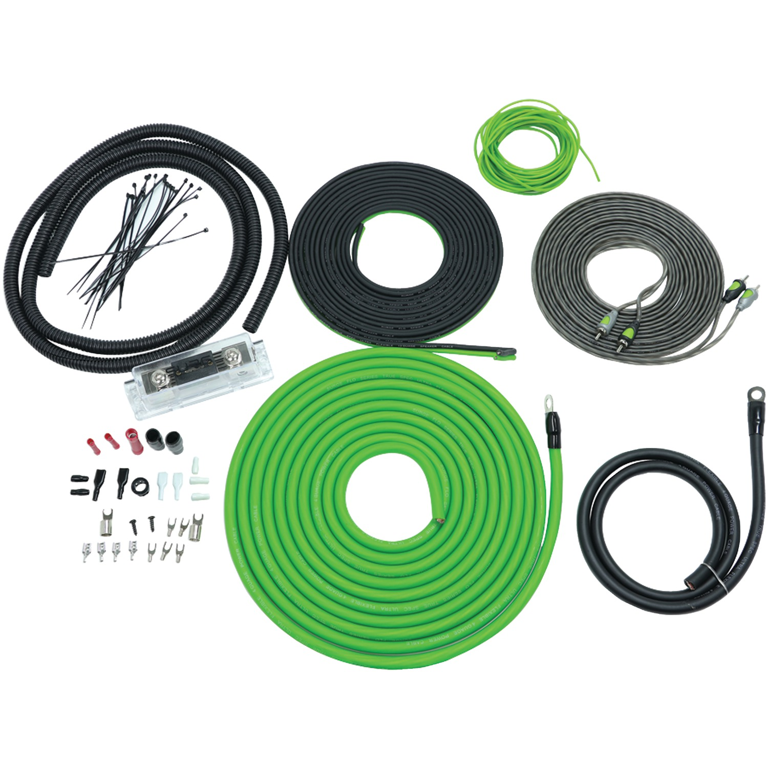 Surge F-4 Flo Series Amp Installation Kit (4 Gauge, 2,000 Watts)