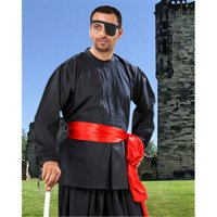 The Pirate Dressing C1100 Warriors Medieval Shirt, Black - Extra Large