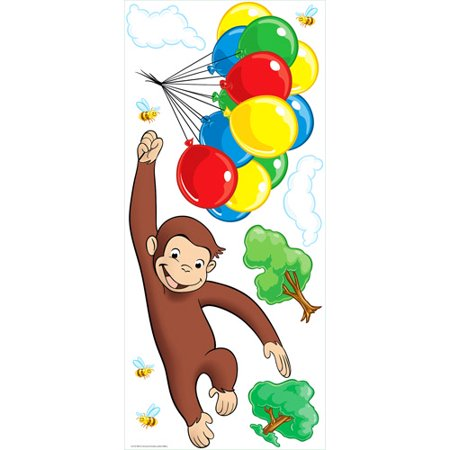 Roommates   Curious George Peel   Stick Giant Wall Decal