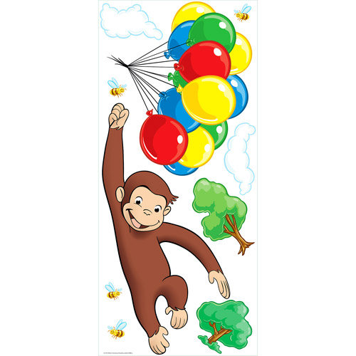 Awesome RoomMates   Curious George Peel U0026 Stick Giant Wall Decal Part 7