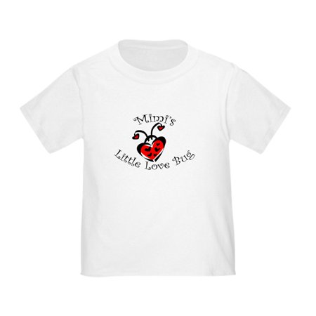 CafePress - Mimi's Love Bug Ladybug Toddler T Shirt - Cute Toddler T-Shirt, 100% Cotton