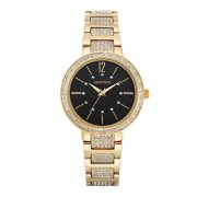 Women's Dress Bracelet Round Watch, Gold