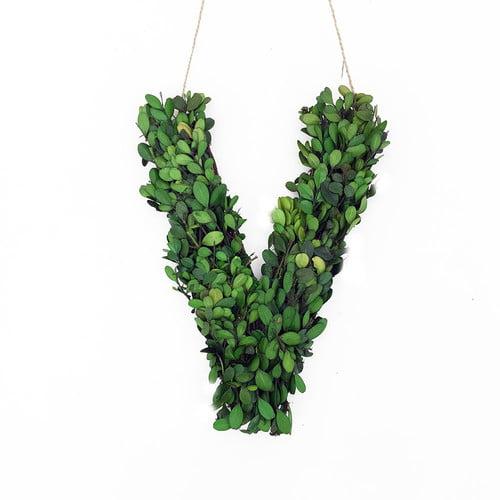 Vandue Corporation Faux Boxwood Letter Wreath