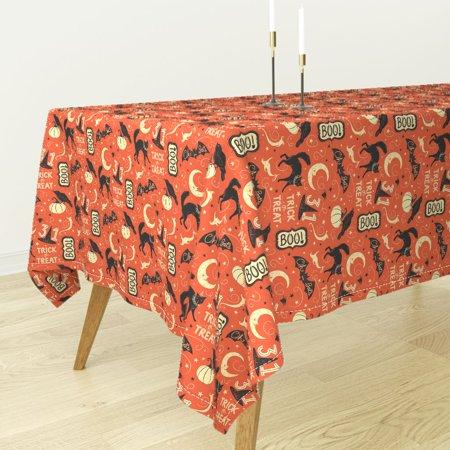 Tablecloth Johanna Parker Vintage Halloween Crow Trick Or Treat Cotton - Halloween Parker Co Events