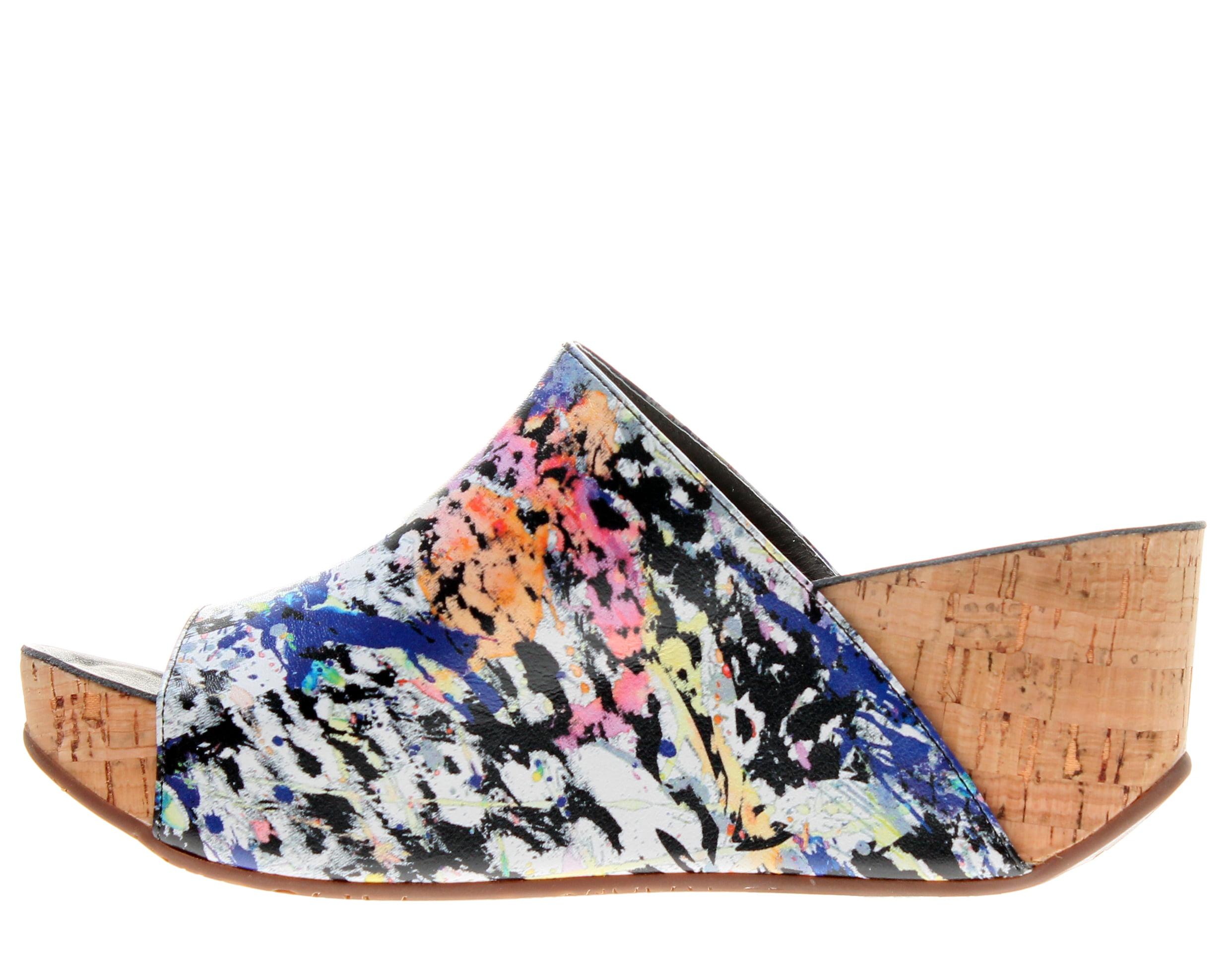 Chocolat Blu Milenna Wedge White Women's Sandals
