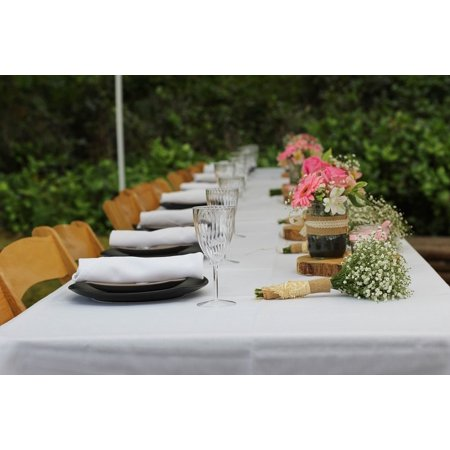 Plastic Table Tents - iPhone XS Max Plastic Case Cover with Glasses Plates Tent Table Flowers Wedding Picture Printed on it.