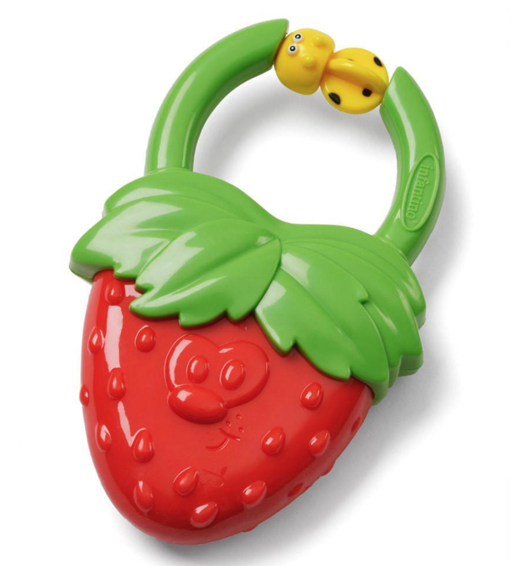 Infantino Vibrating Teether, Strawberry