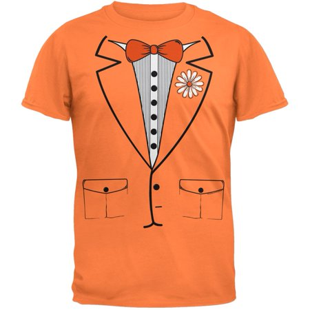 Orange Leisure Suit Tuxedo T-Shirt - Polyester Leisure Suits