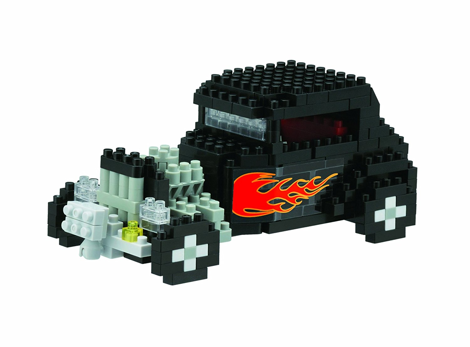 Classic Hot Rod Building Kit, coloured using soy ink By Nanoblock by