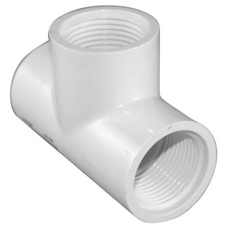 Fpt Threaded Pvc Union (Charlotte Pipe Threaded Tee Sch 40 Pvc 3/4