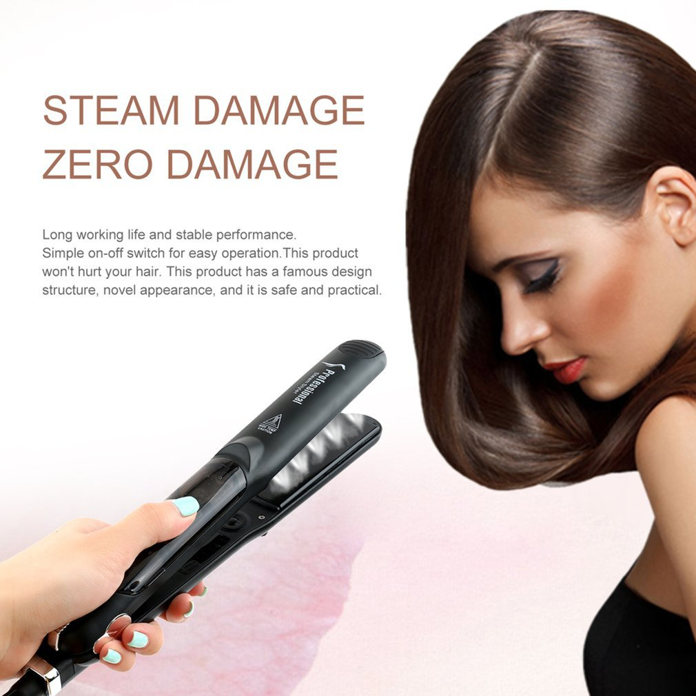 Ceramic Vapor Steam Hair Straightener Hair Salon Steam Styler Styling Tool