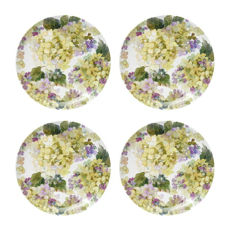 Noritake Green Plate - Better Homes & Gardens Outdoor Melamine Hydrangea Green Dinner Plate, Set of 4