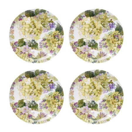 - Better Homes & Gardens Outdoor Melamine Hydrangea Green Dinner Plate, Set of 4