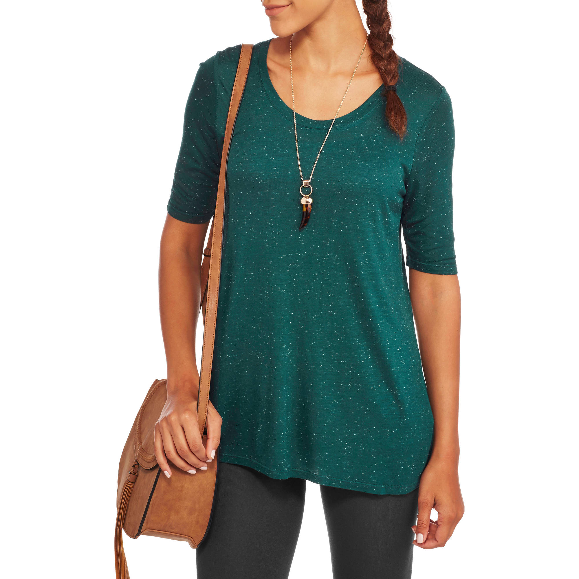 Faded Glory Women's Essential 3/4 Sleeve Tunic