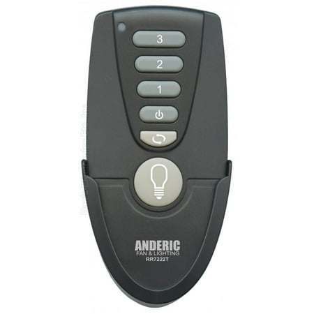ANDERIC UC7222T/CHQ7222T For Hampton Bay (p/n: RR7222T) Ceiling Fan Remote Control