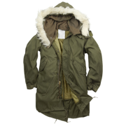 Genuine Issue NEW Dead Stock RARE Vintage M65 Fishtail Parka with Hood & Liner