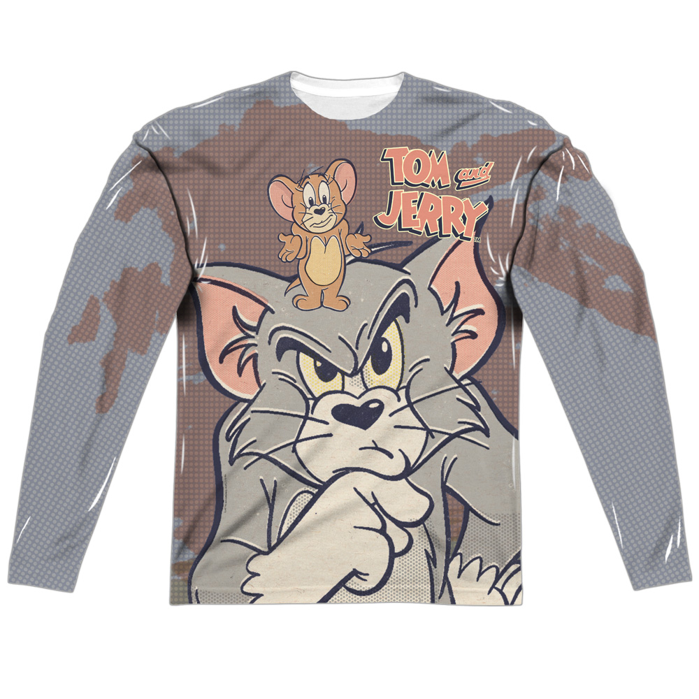 Trevco Tom And Jerry Up To No Good (Front/Back Print) Men...