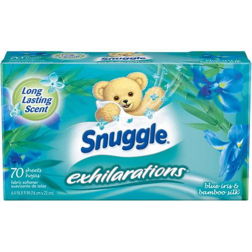 Snuggle Exhilaration Sheets, Blue Iris, 70 ct