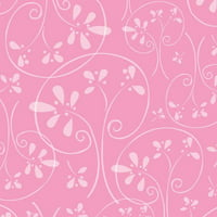 Emma & Mila Hoot Hoot Collection Cotton Pinks Swirl Fabric, per Yard