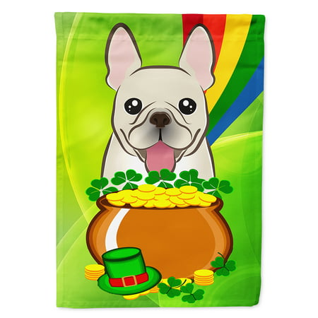 French Bulldog St. Patrick's Day Flag Canvas House Size ()