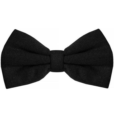 Bow Tie for Men Ties – Mens Pre Tied Formal Tuxedo Bowtie for Adults & Children, Black Black Tie Gourmet