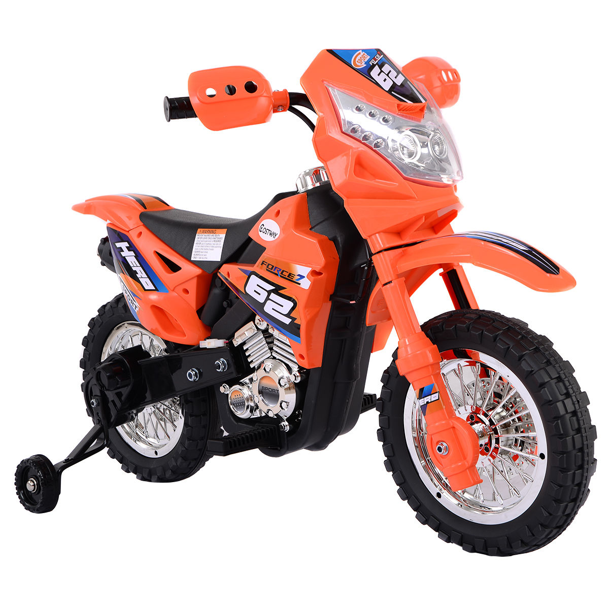 Goplus Kids Ride On Motorcycle with Training Wheel 6V Battery Powered Electric Toy by Costway
