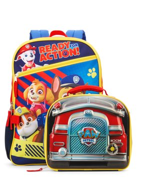 Paw Patrol Ready For Action Backpack With Lunch Bag