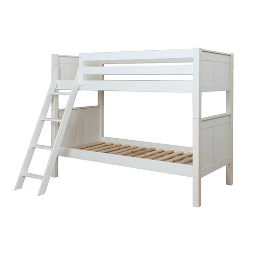Image of Ace Bayou Classic Twin Over Twin Wood Bunk Bed, White