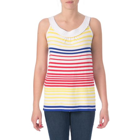 Joseph A Womens Knit Basketweave Tank Top - Ladies Basketweave
