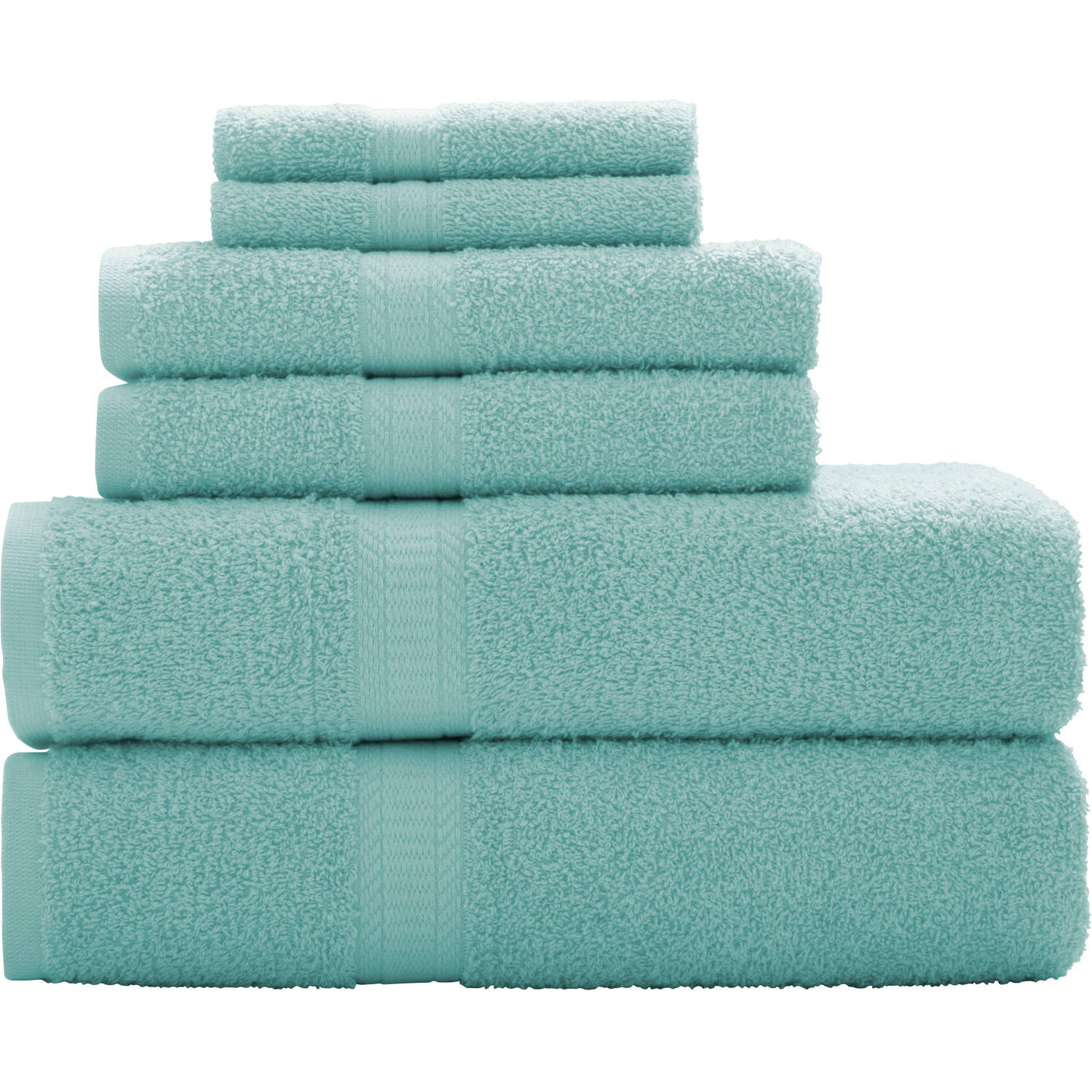 Hand Towels Bathroom: Mainstays 6-Piece Cotton Towel Collection Bath Towel Hand